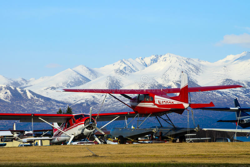 Alaskan float plane stock images
