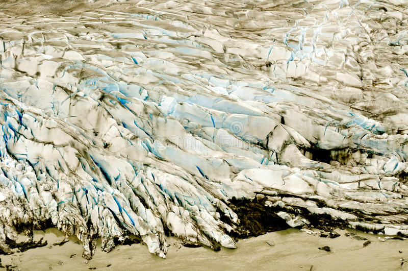 Alaskan Glaciers. With blue icecaps royalty free stock photos