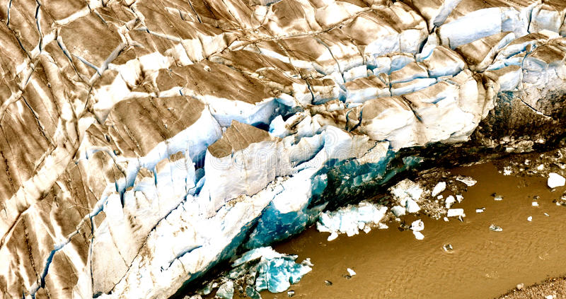 Alaskan Glaciers. With icebergs in the water royalty free stock photo