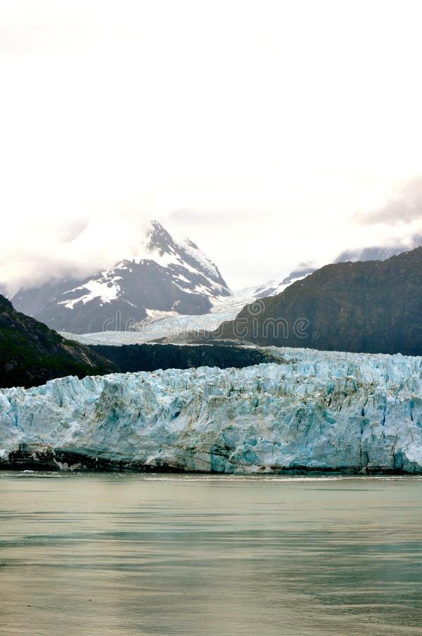 Alaskan Glaciers. And mountains and water stock image