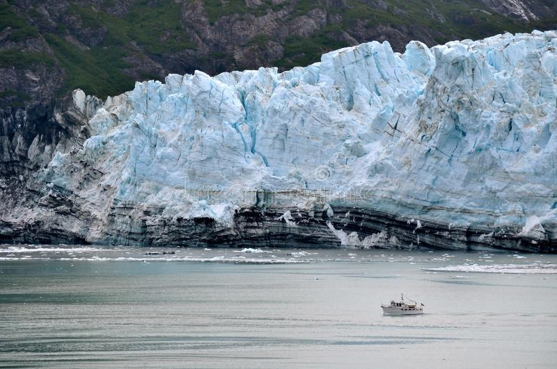 Alaskan Glaciers. And mountains and water stock photography
