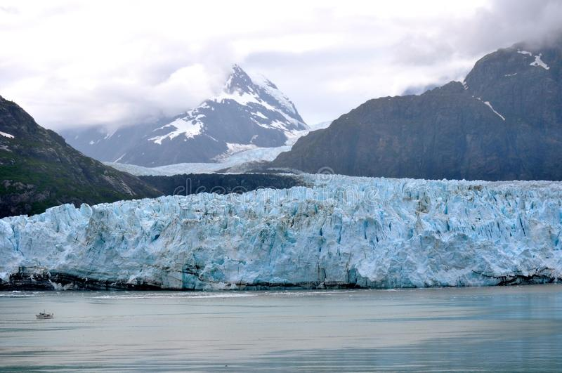 Alaskan Glaciers. And mountains and water royalty free stock images