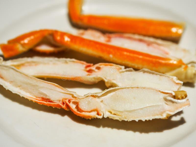Alaskan King Crab leg Steamed.  stock photos