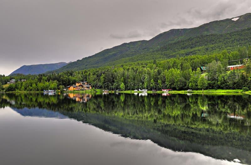 Alaskan lake royalty free stock photography