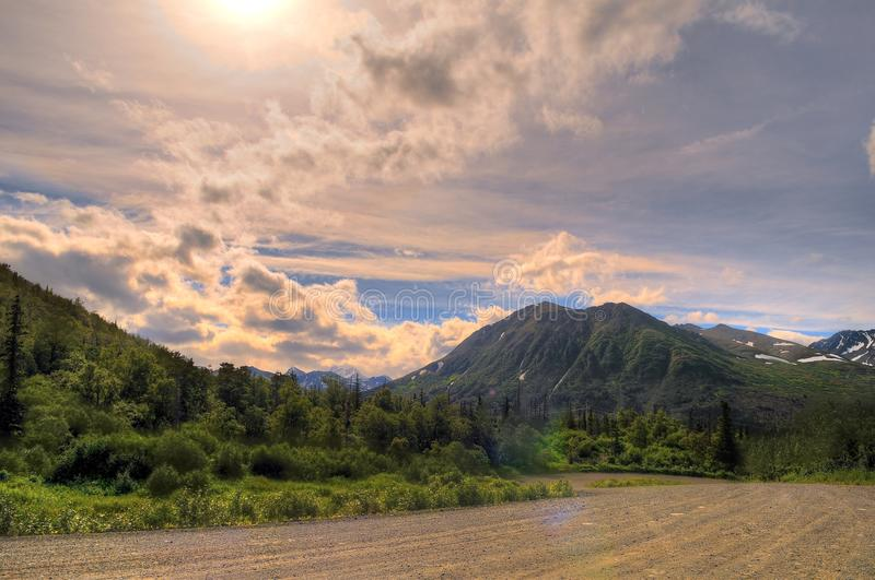 Alaskan mountains stock images