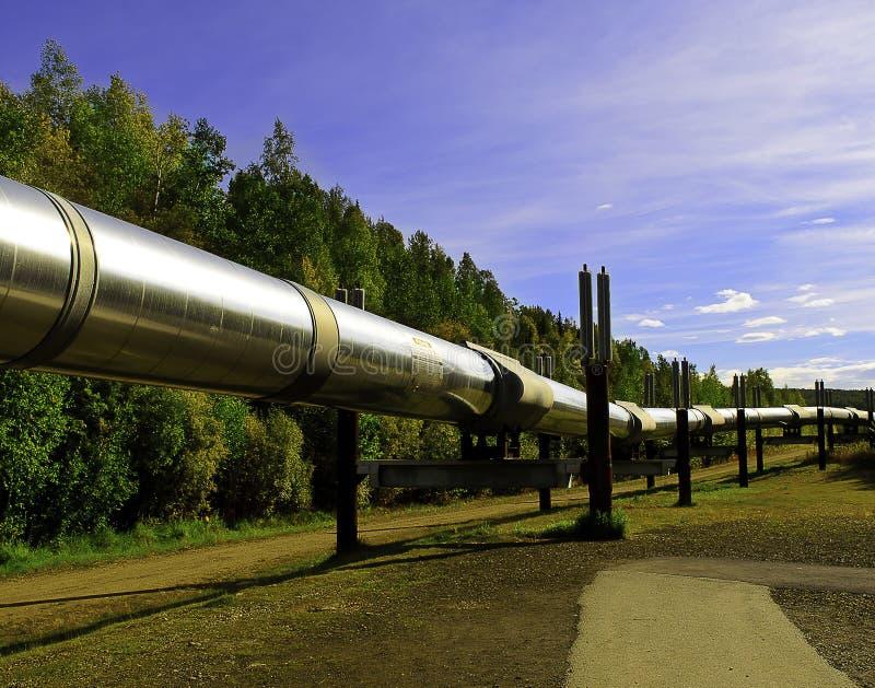 Alaskan oil pipeline stock image