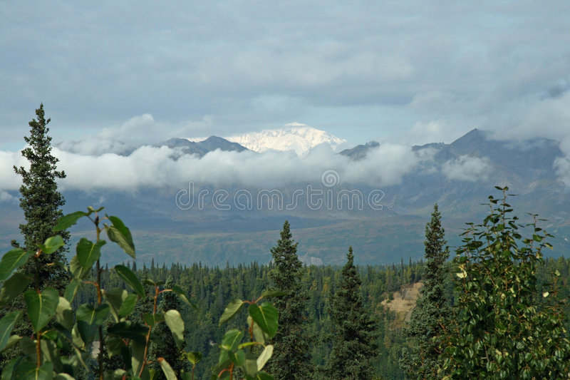 Alaskan Range. Alaska mountians in north country royalty free stock images
