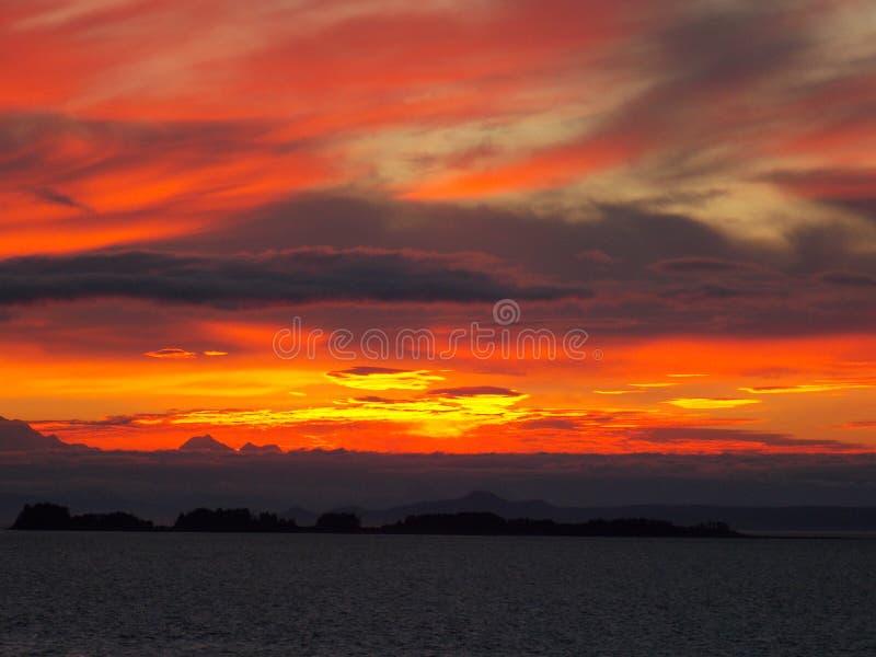 Alaskan Sunset - Painted Sky stock photos