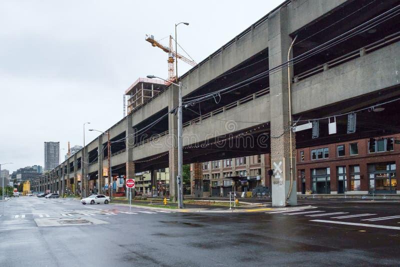 Alaskan Way Viaduct royalty free stock photo