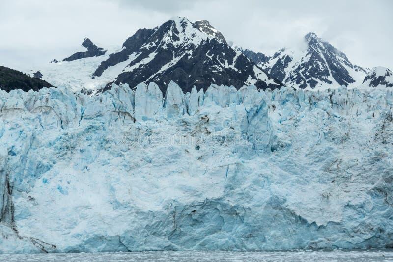 Alaskas Meares-Gletscher lizenzfreies stockbild