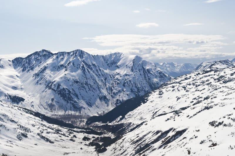 Alaskische Berge und Tal stockbild