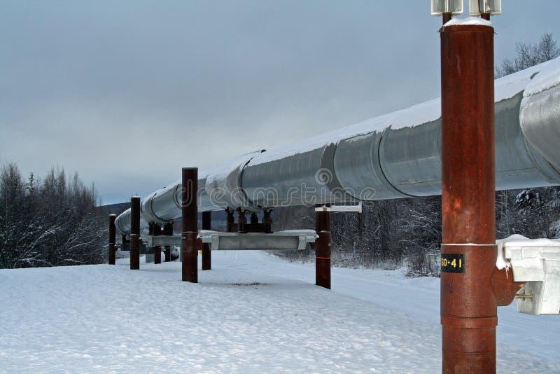 Alaskische Rohrleitung lizenzfreie stockfotografie