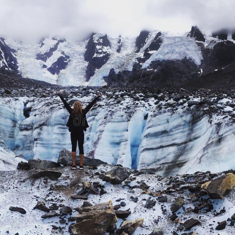 Alaskischer Gletscher lizenzfreie stockfotos