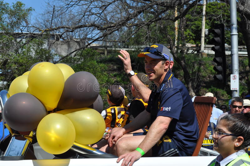 Alastair Clarkson Senior Coach van Haagdoornafl Team stock fotografie