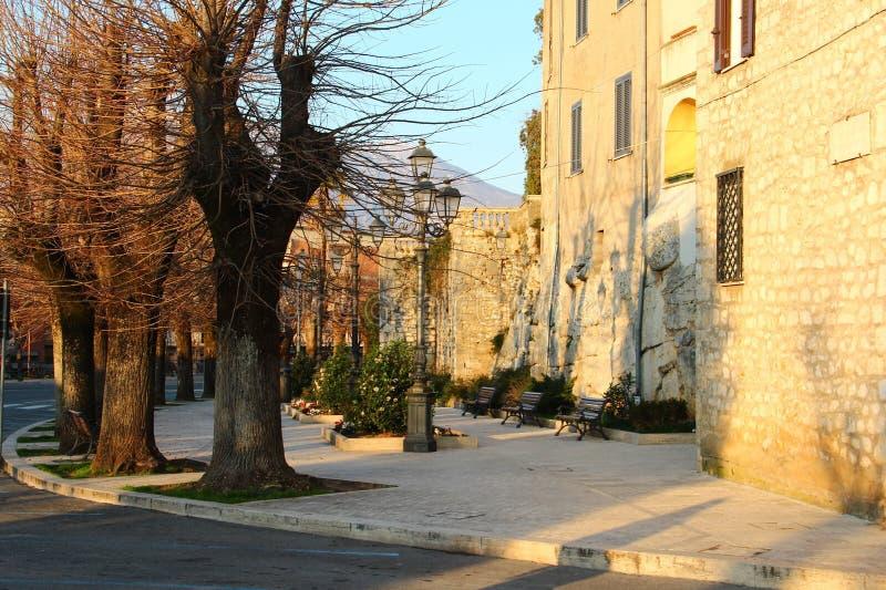 Alatri, średniowieczna wioska w środkowym Włochy fotografia stock