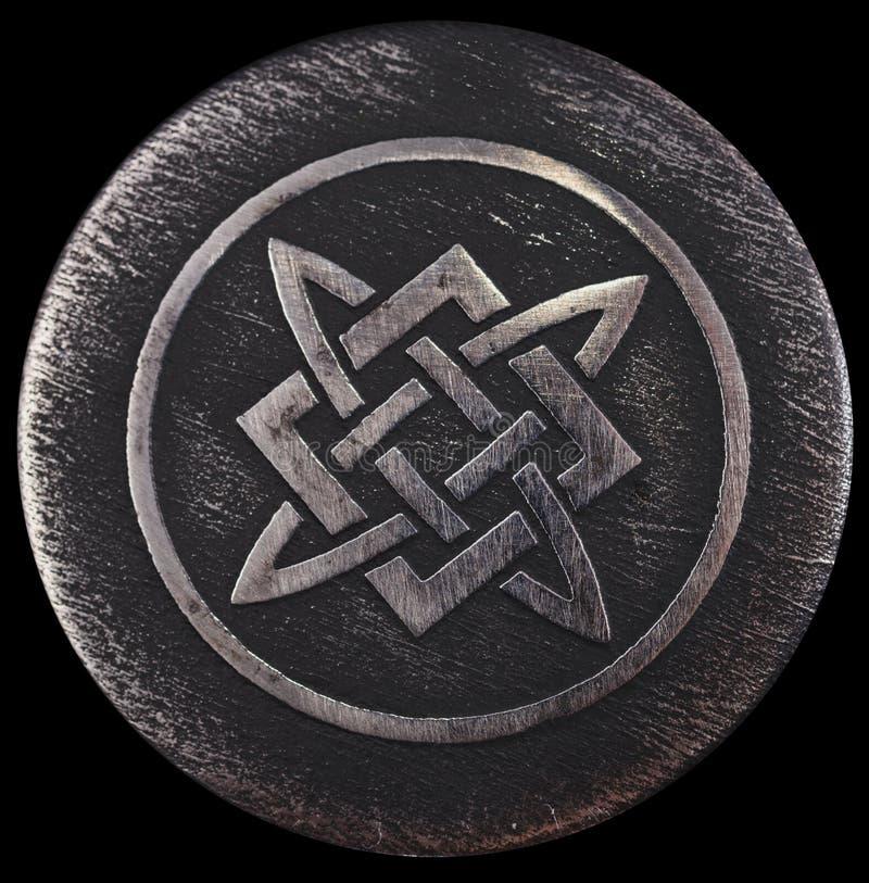Alatyr-sten som Svarog bankade på hans hammare royaltyfri foto