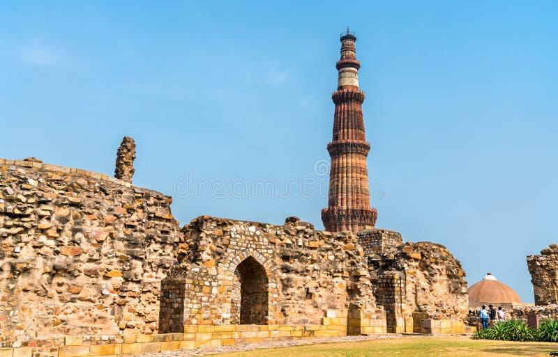 Alauddin Khilji Tomb and Madrasa at the Qutb Complex in Delhi, India stock photos