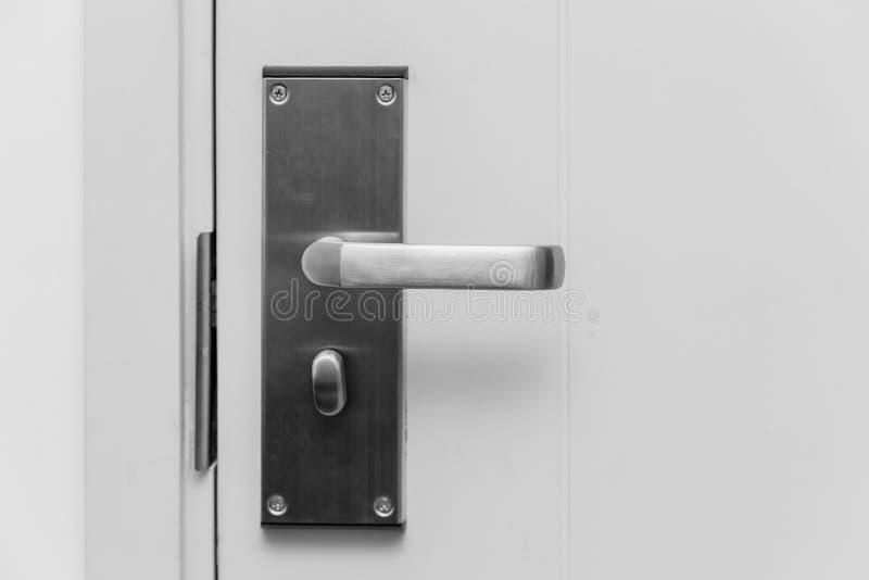 Alavanca de aço inoxidável do punho da porta home foto de stock royalty free