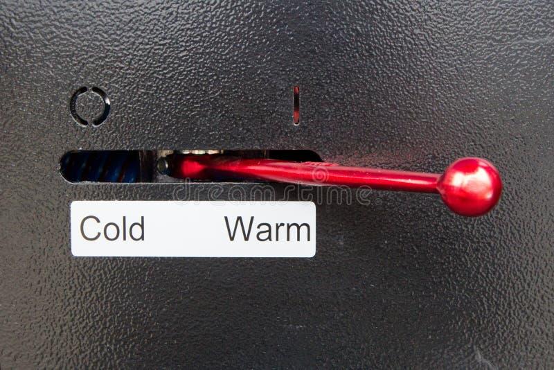 Alavanca para frio ou morno imagens de stock