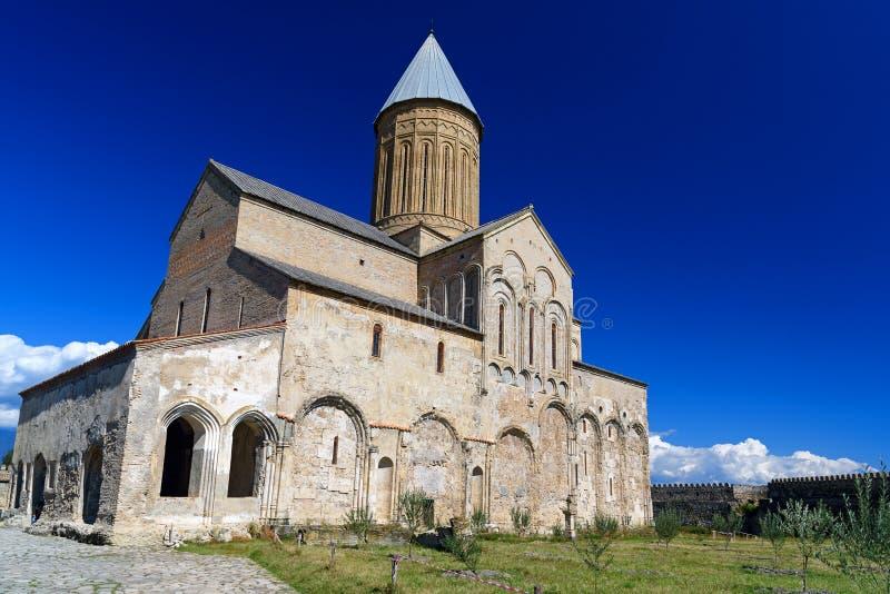 Alaverdi Monastery in the Alazani valley. Kakheti region. Georgia stock photo