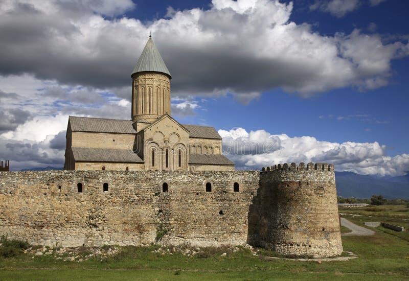 Alaverdi Monastery in Kakheti. Georgia.  stock photo