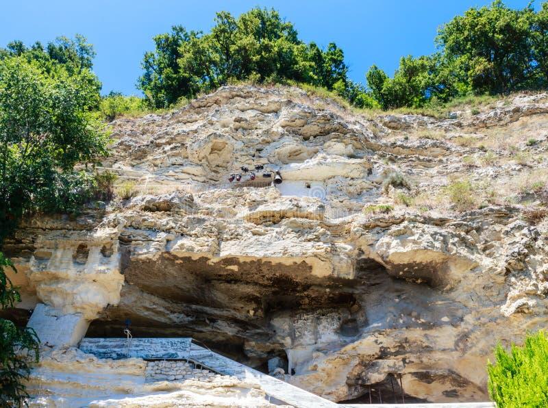 Alazhda monaster, rockowy monaster Bułgaria zdjęcie royalty free