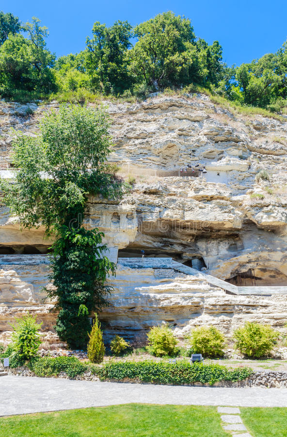 Alazhda monaster, rockowy monaster Bułgaria obraz stock