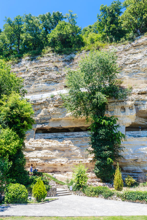Alazhda monaster, rockowy monaster Bułgaria fotografia stock
