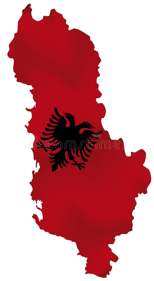Albânia ilustração stock