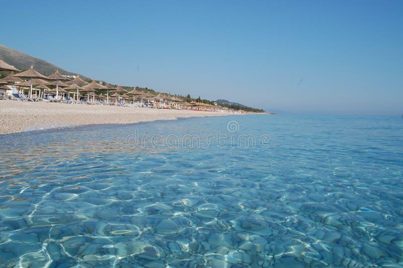 Albânia, praia de Drymades imagem de stock royalty free