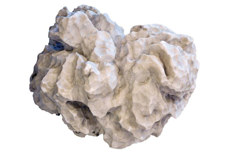 Albâtre naturel de pépite d'isolement sur le fond blanc images stock