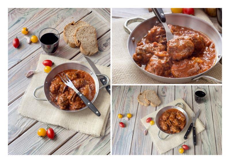 Albóndigas en salsa de tomate imagen de archivo libre de regalías