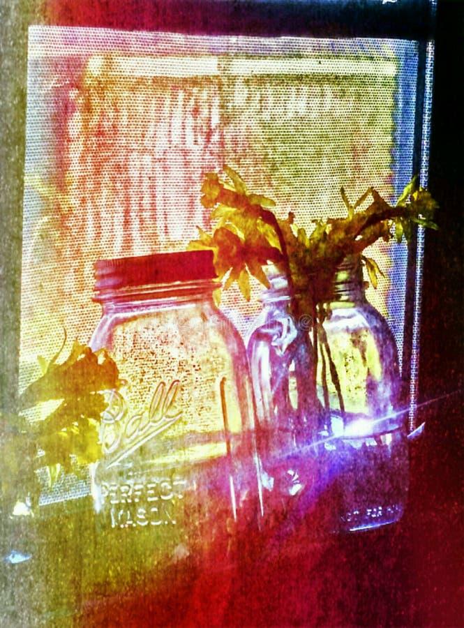 Albañil de la ventana fotos de archivo