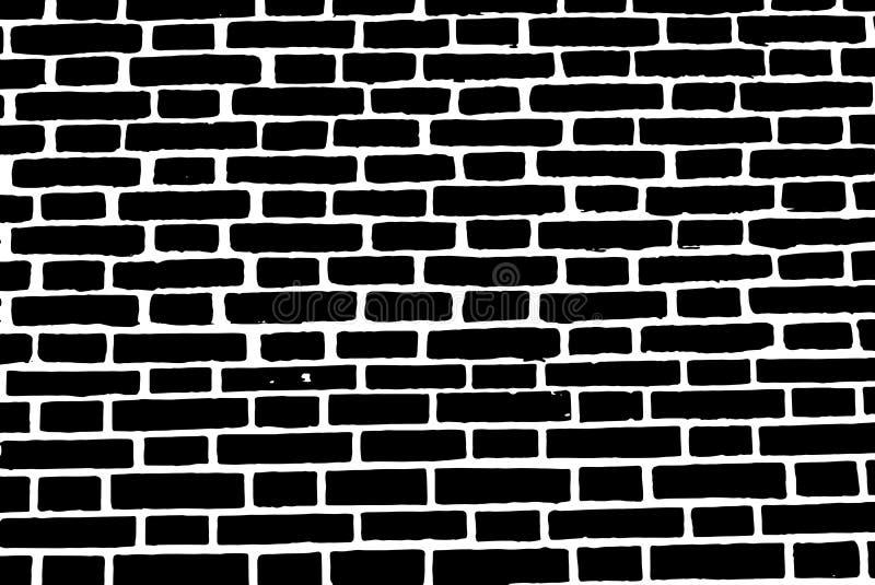 Albañilería áspera vieja de la pared de ladrillo del fondo negro de la textura libre illustration