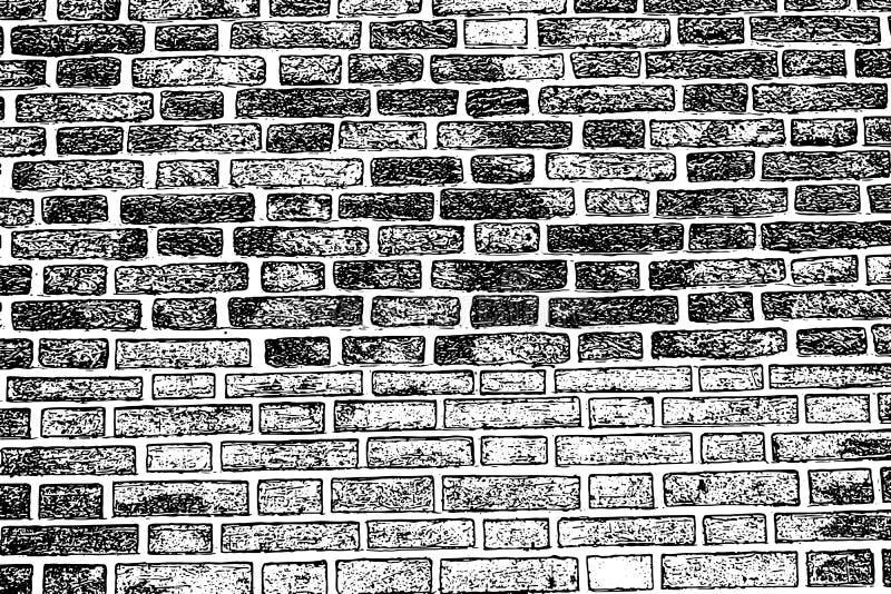Albañilería áspera vieja del fondo de la textura de la pared de ladrillo ilustración del vector