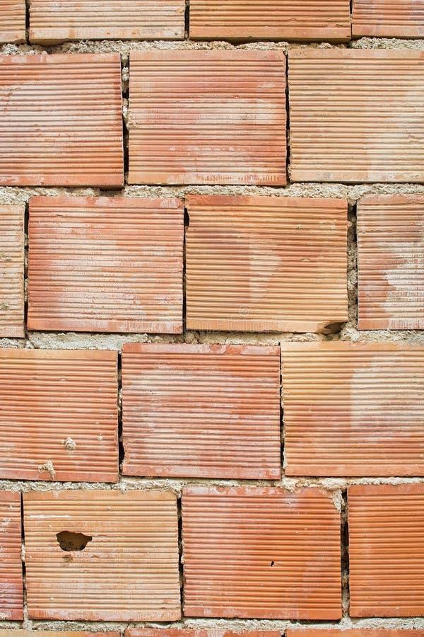 Albañilería simple roja del ladrillo fotos de archivo