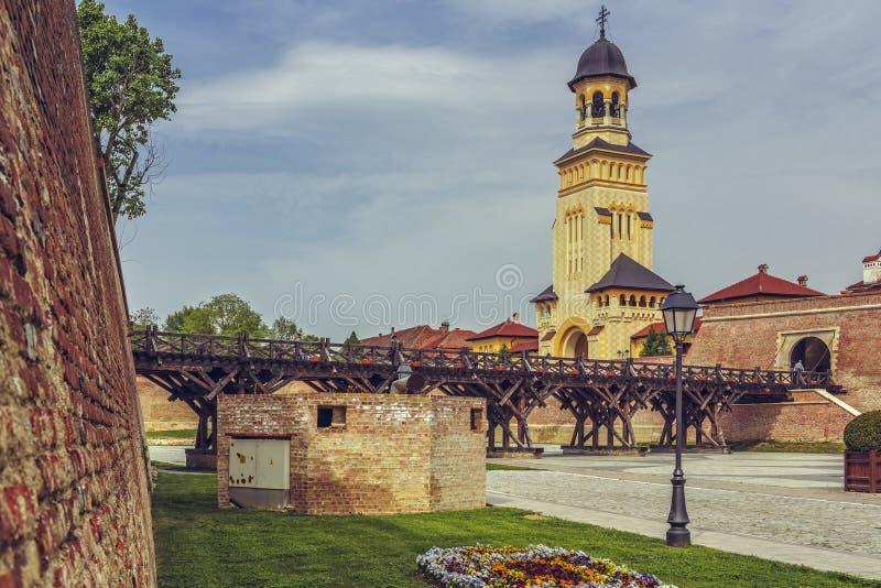 Alba крепость Каролины, Alba Iulia стоковая фотография