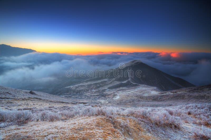 Alba 2 della montagna del Sikkim fotografia stock