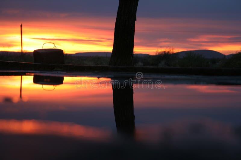 Download Alba immagine stock. Immagine di palo, nubi, mattina, siluetta - 209417
