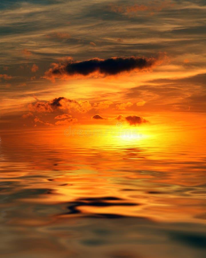 Alba All Oceano Fotografia Stock Libera da Diritti