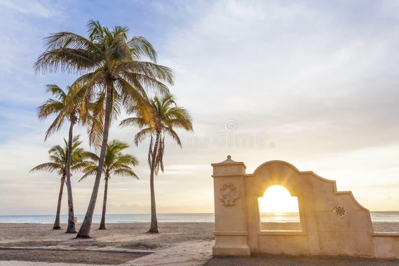 Alba alla spiaggia in Florida immagine stock libera da diritti