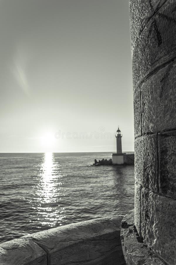 Alba a Bastia fotografia stock libera da diritti