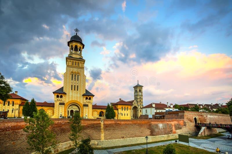 Alba Carolina fästning, Rumänien arkivbild