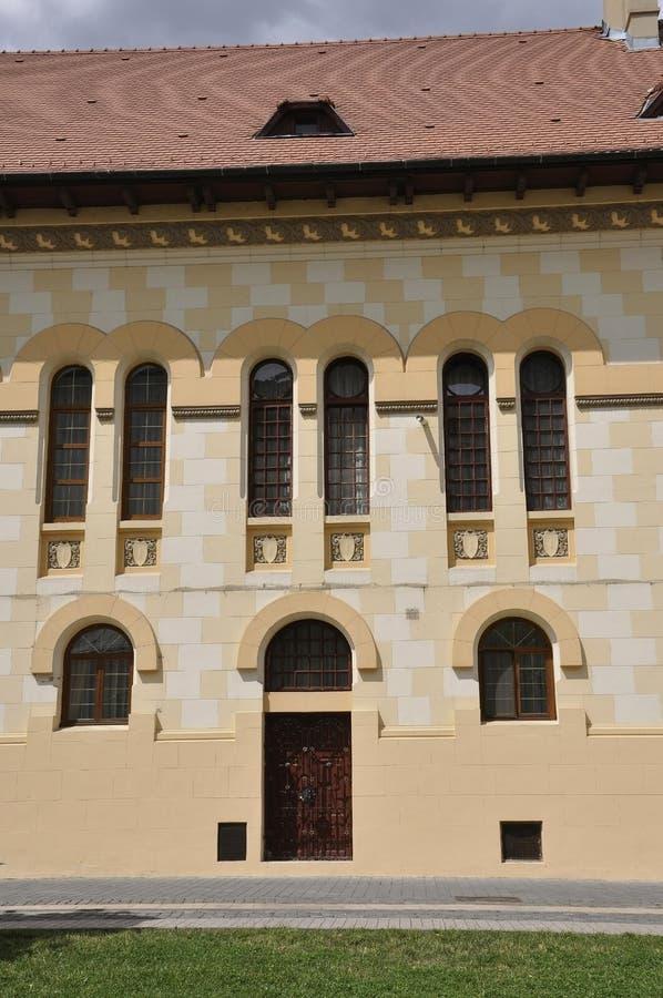 Alba Carolina,June 15:Close up of Headquarter of Coronation Cathedral from Alba Carolina Fortress in Romania stock images
