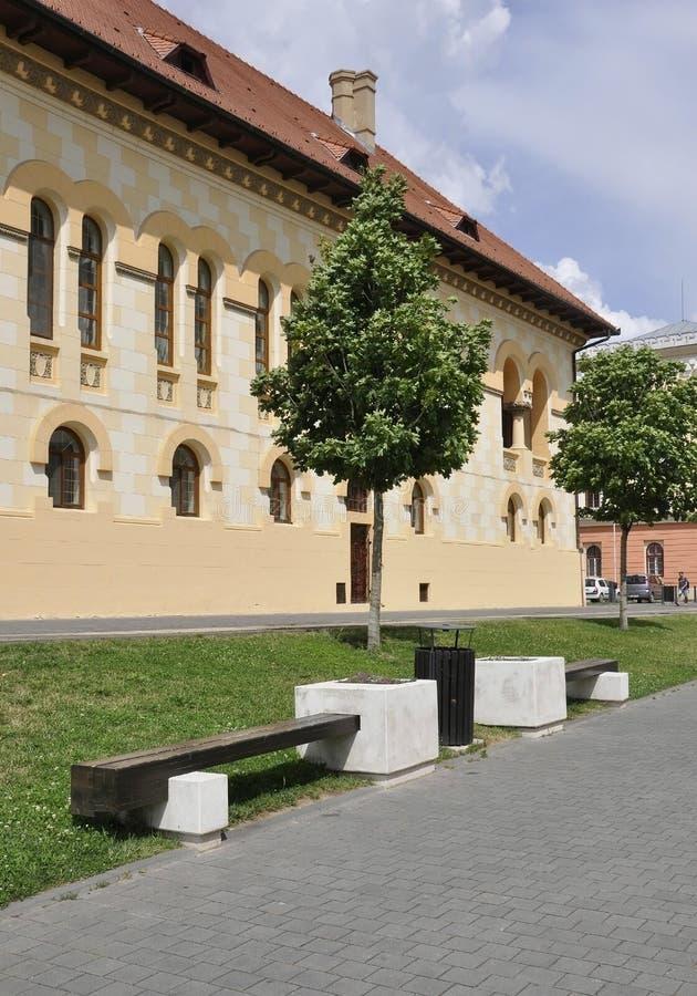 Alba Carolina,June 15:Coronation Cathedral Headquarter from Alba Carolina Fortress in Romania royalty free stock photography