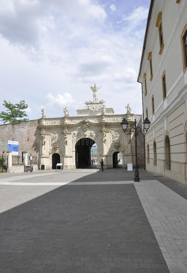 Alba Carolina,June 15:Gate III from Alba Carolina Fortress in Romania royalty free stock photo