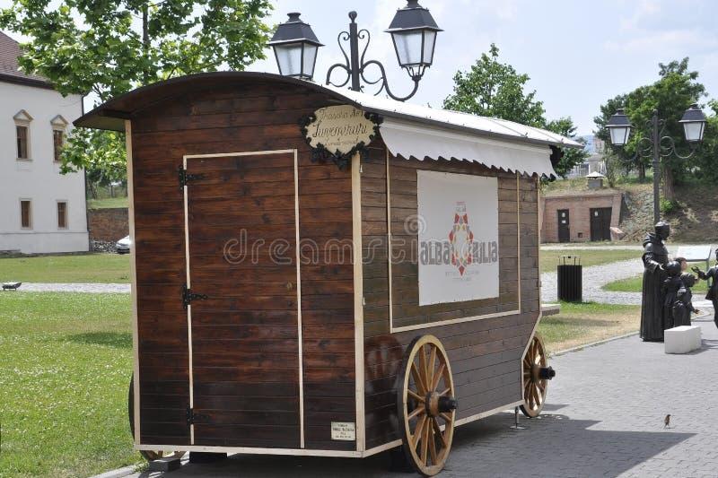 Alba Carolina,June 15:Kiosk from Alba Carolina Fortress courtyard in Romania stock photos