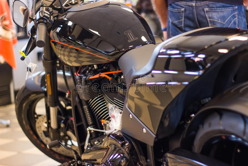 Harley Davidson FXDR 114 Model presentation royalty free stock photo