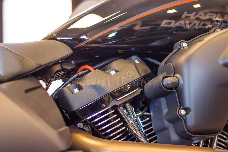 Harley Davidson `Open House Event` in Italy, New FXDR 114 Model with Milwaukee 8 engine. stock photo