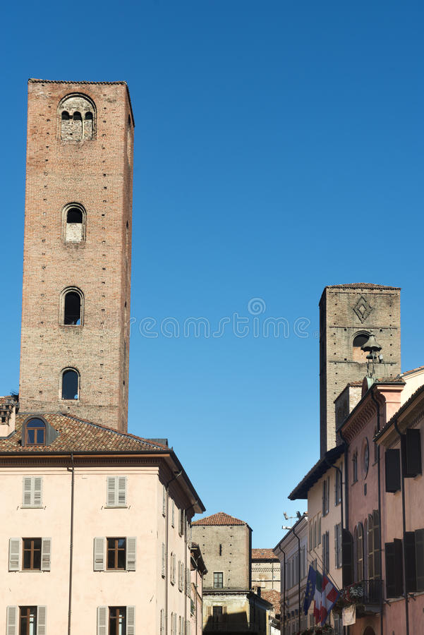 Download Alba (Cuneo, Italy) stock photo. Image of tower, europe - 43480240